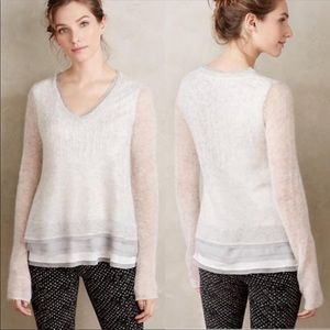 Knitted & Knotted Alessia Mohair Pullover Gray XL